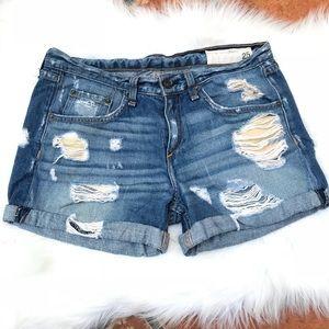 rag & bone/JEAN Distressed Denim Shorts Size 25